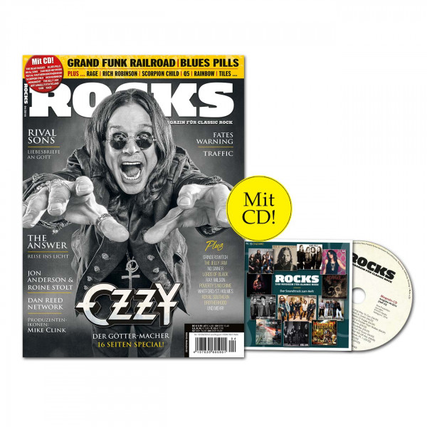 ROCKS Magazin 53 (04/2016) mit CD und Ozzy Osbourne-Special!