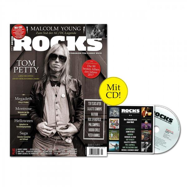 ROCKS Magazin 62 (01/2018) mit CD und Tomy Petty
