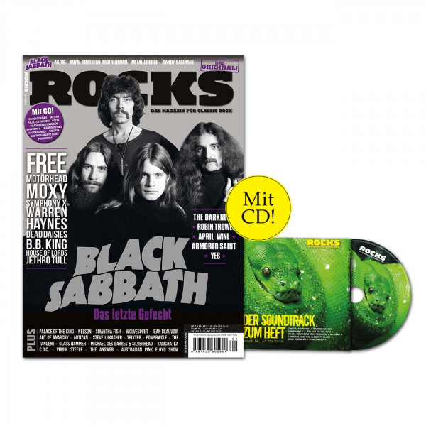 ROCKS Magazin 47 (04/2015) mit CD und Black Sabbath!