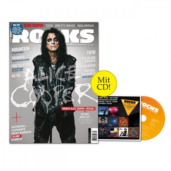 ROCKS Magazin 81 (02/2021) mit CD mit Alice Cooper