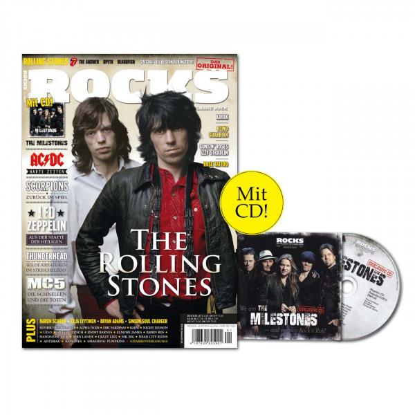 ROCKS Magazin 44 (01/2015) mit exklusiver Milestones-CD und den Rolling Stones!