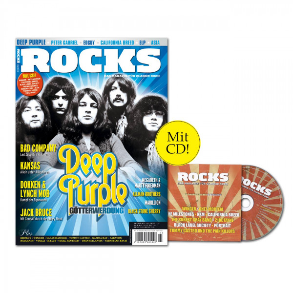 ROCKS Magazin 40 (03/2014) mit CD udn Deep Purple!