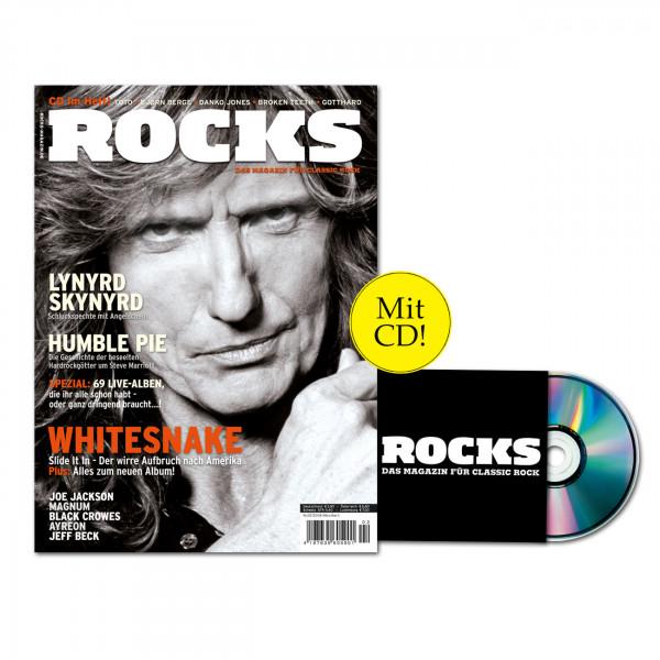 ROCKS Magazin 03 (02/2008) mit CD Mit Lynyrd Skynyrd, Humble Pie, Whitesnake, Joe Jackson, Magnum, Black Crowes, Ayreon, Jeff Beck