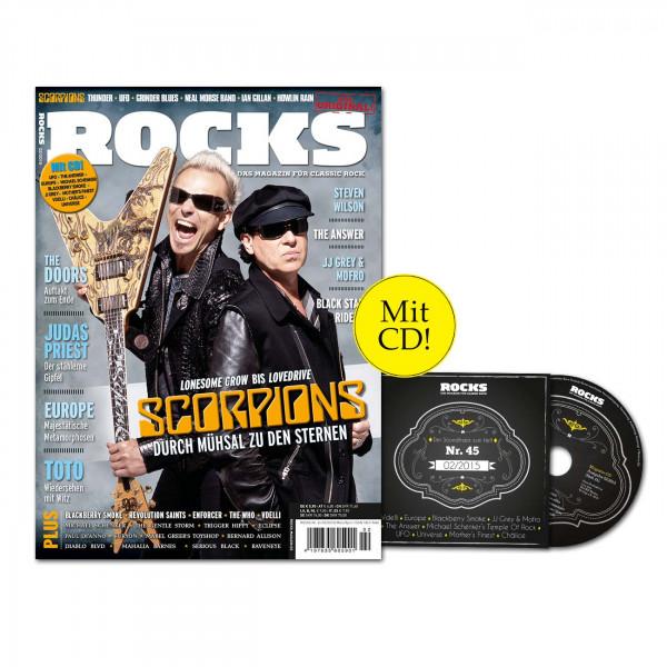 ROCKS Magazin 45 (02/2015) mit CD udn Scorpions-Special!