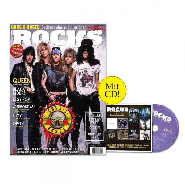 ROCKS Magazin 72 (05/2019) mit CD und Guns'N'Roses