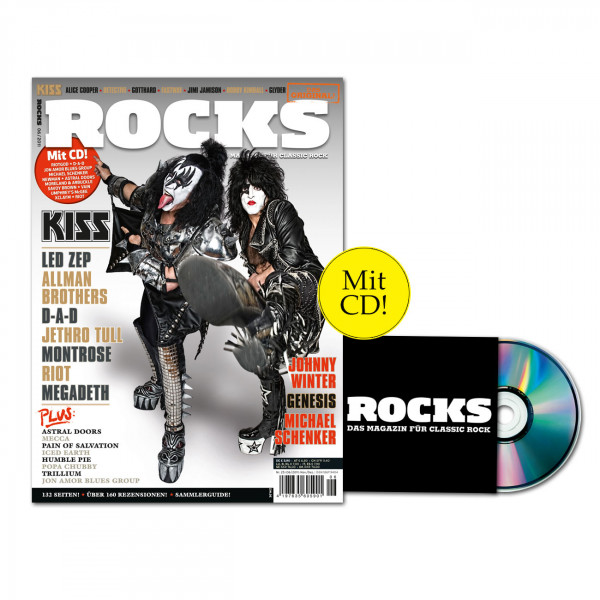 ROCKS Magazin 25 (06/2011) mit CD, Kiss, Led Zeppelin, Allman Brothers, Genesis u.v.m.