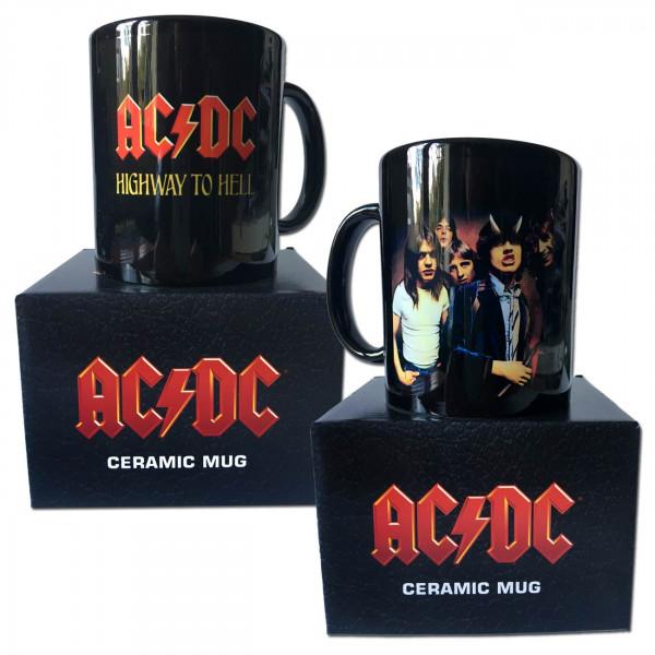 AC/DC-Tasse schwarz mit Aufdruck Highway To Hell