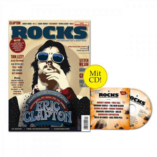 ROCKS Magazin 33 (02/2013) mit CD und Eric Clapton & Derek And The Dominos