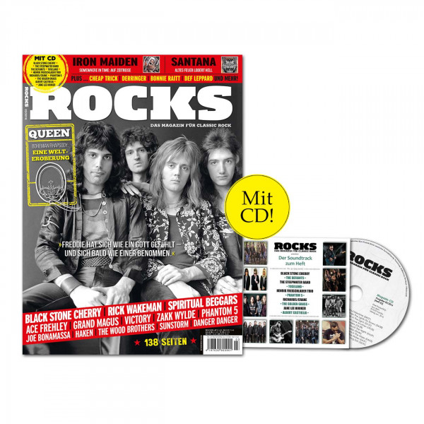 ROCKS Magazin 52 (03/2016) mit CD und Queen!