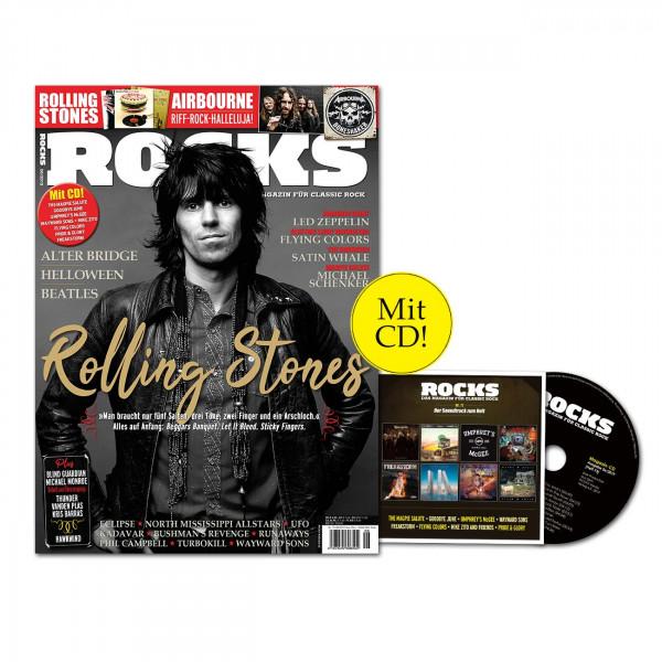 ROCKS Magazin 73 (06/2019) mit CD und The Rolling Stones